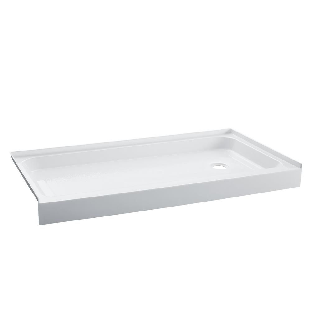 Swiss Madison Voltaire 36 In X 60 In Acrylic Single Threshold Right Hand Drain Shower Base In White Products In 2019 Shower Base Shower Wall Kits Sh