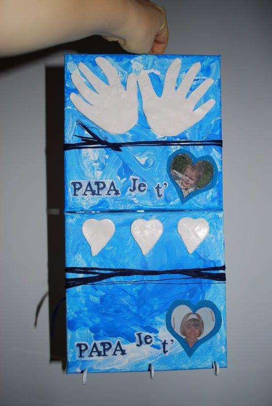 un tableau porte clef pour papa sandrine dans tous ses tats clefs papa et le pere. Black Bedroom Furniture Sets. Home Design Ideas