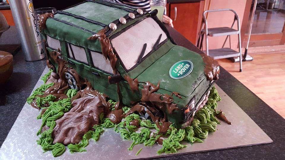 Land Rover Defender Series Photo Cake Ideas Cake