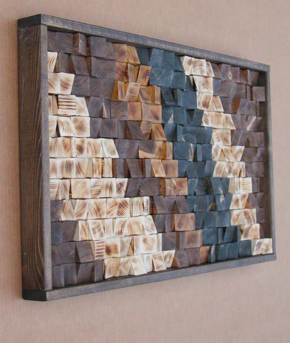 Große zurückgefordert Holz Wandkunst Holz-Wand-Dekor   Wandkunst ...
