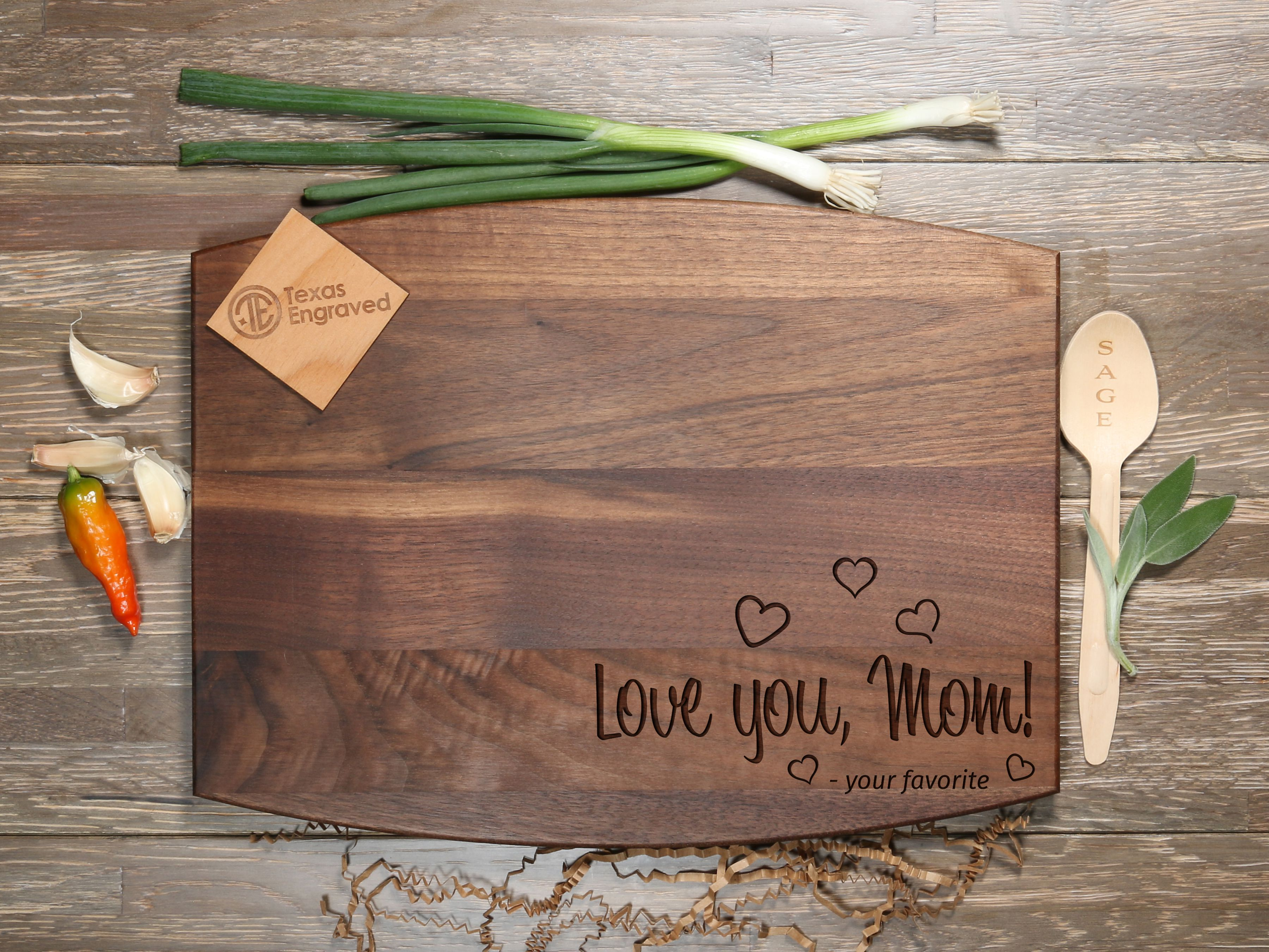 Cutting Board for Mom - D38 - 11x17 Maple*