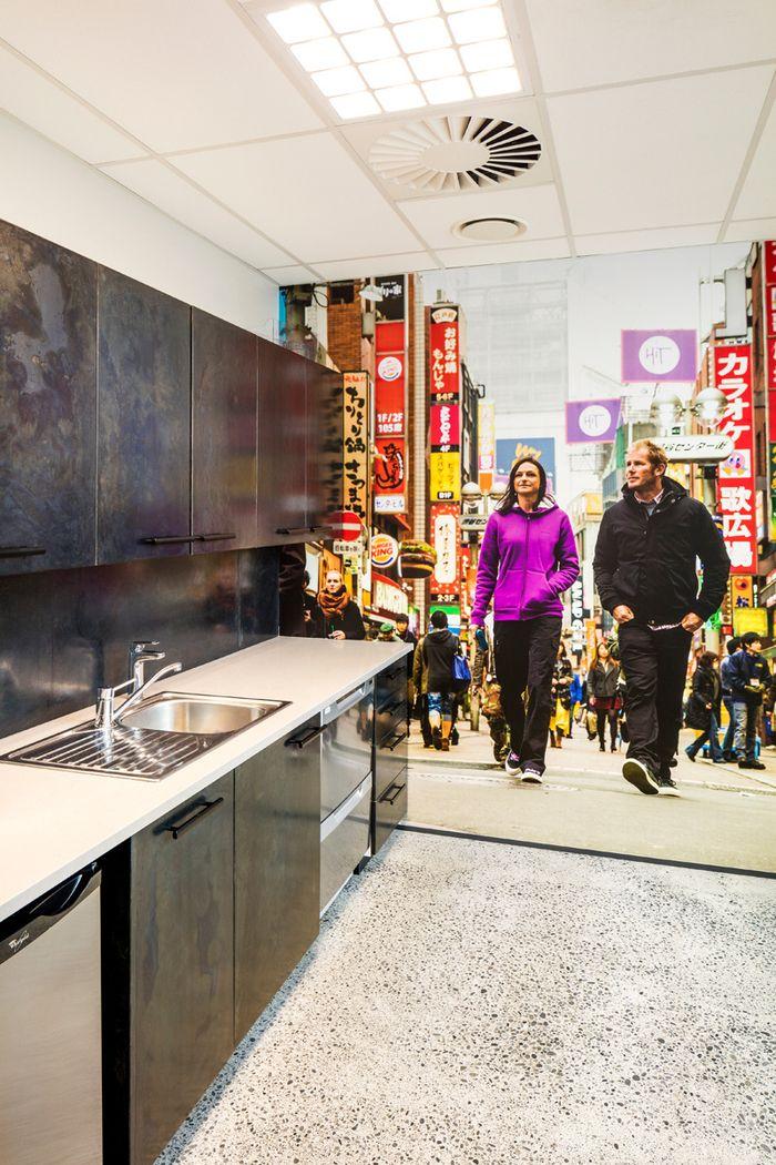Kathmandu Offices Christchurch Office Snapshots Cheap Kitchen Makeover Elegant Kitchen Design Luxury Kitchen Design