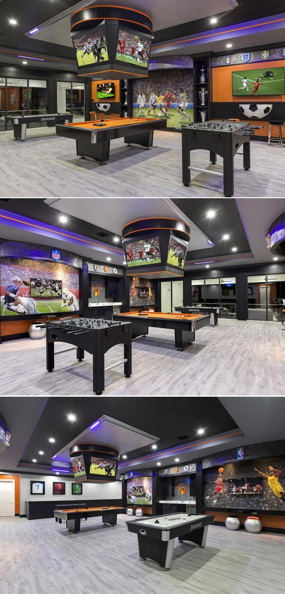 Basement Game Room Designs: Love This Game Area! Found In An Orlando Vacation Rental