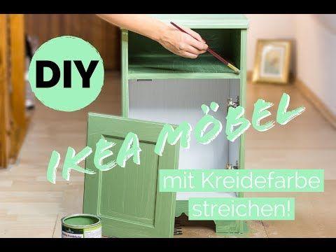 Ikea Hack Mit Kreidefarbe Und Acrylfarbe Ikea Mobelstuck Zu Einem Design Unikat Im Landhaust Kreidefarbe Furnierte Mobel Streichen Mobel Anstreichen