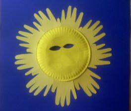 paper plate sun mask summer solstice midsummer litha