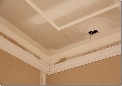 Trim with gaps on wall and ceiling get white in between and dramatic color  in the