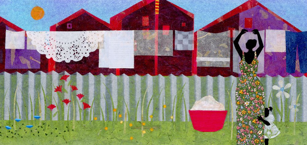 Ekua Holmes A Boston Artist Uses Collage To Depict Everyday Life In Roxbury Laundry Art African American Art American Art