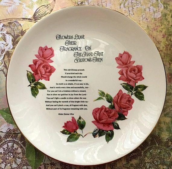 SOLD! Decorative Plate Helen Steiner Rice Poem