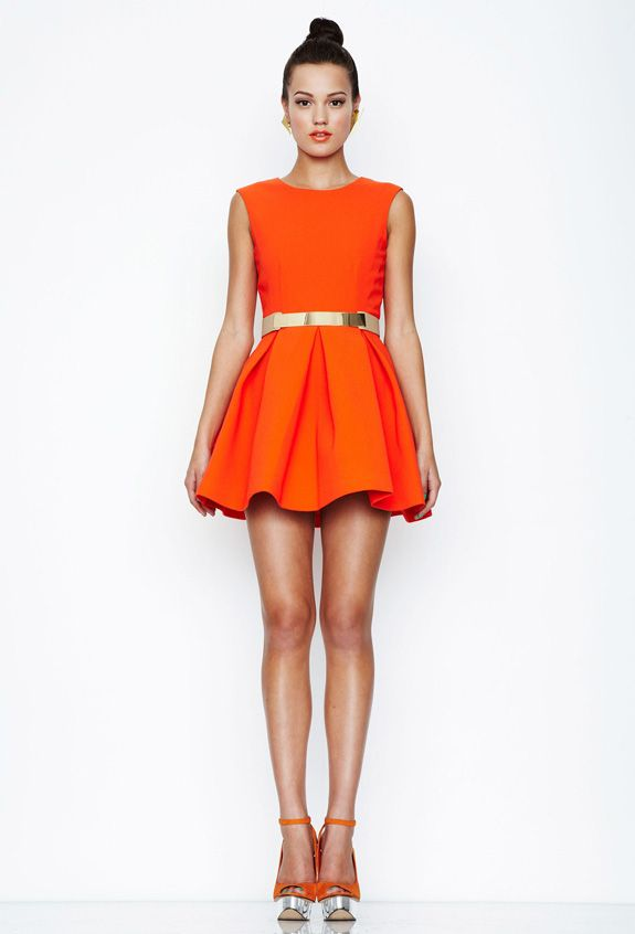 a1153650b4b Orange Aqua by Aqua Floyd structured skater dress (backless ...