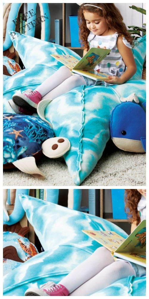 DIY Kids Floor Pillow Free Sewing Patterns