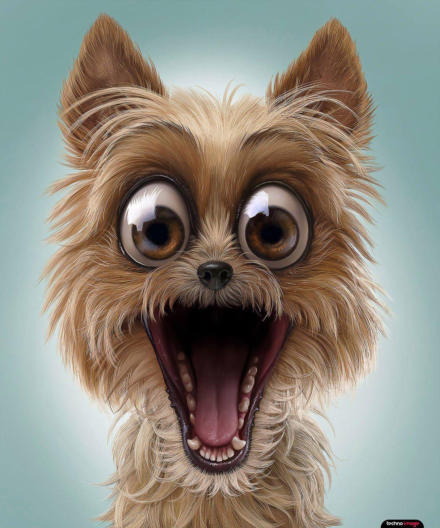 картинка морда собаки с открытым ртом если она ещё