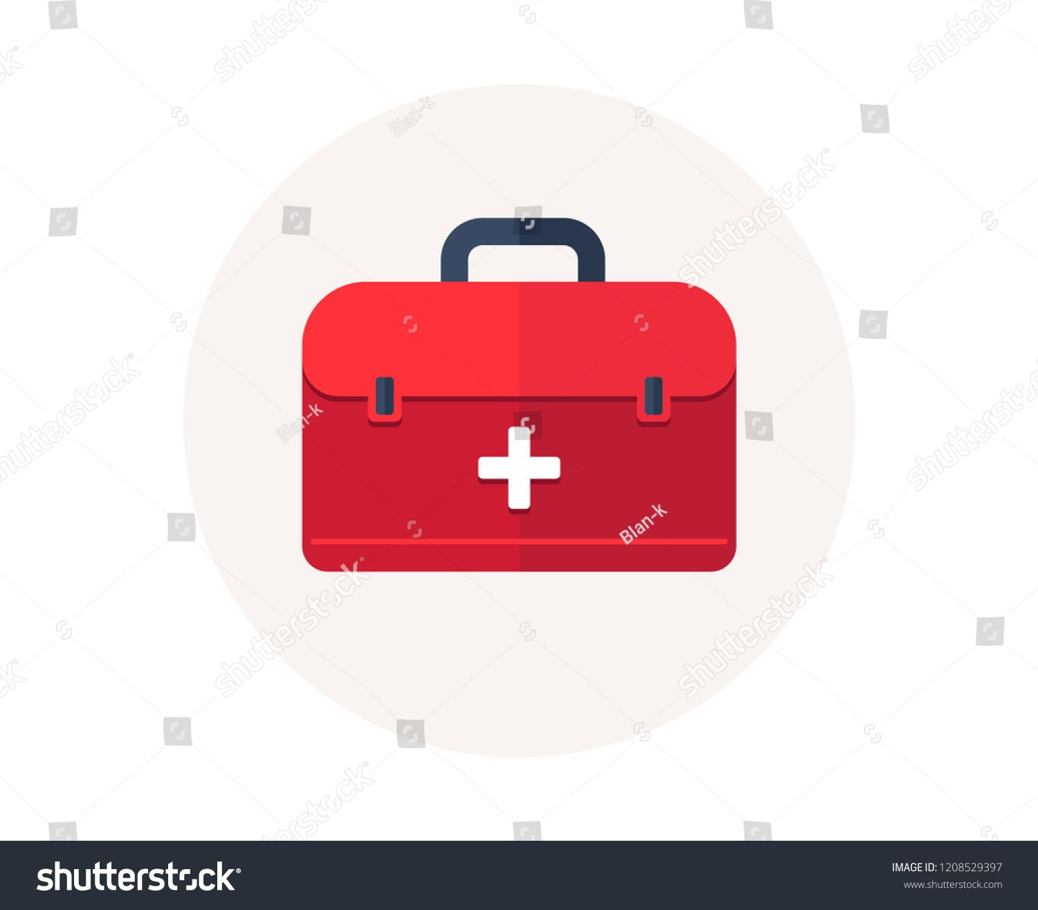 First aid bag icon medical box emergency health care kit