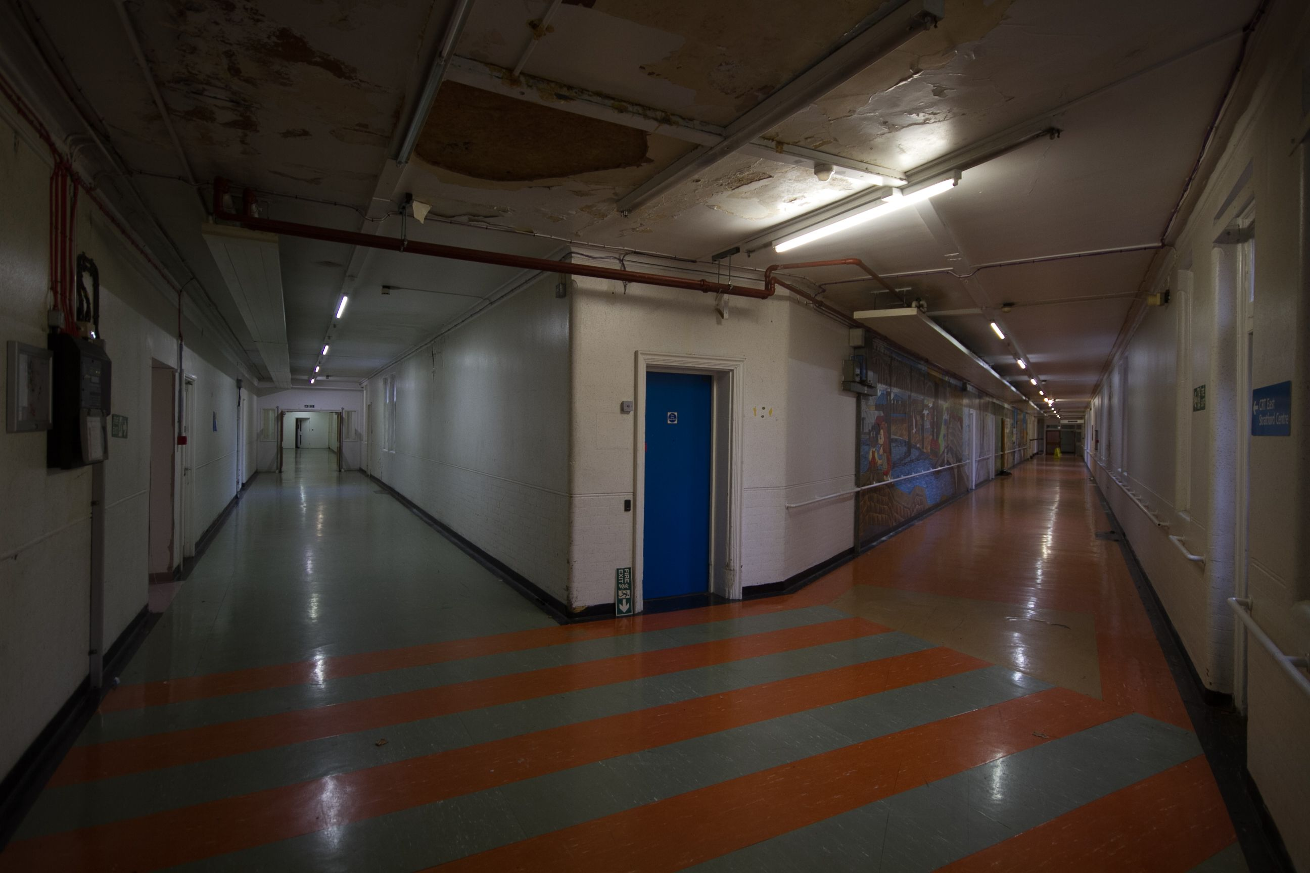 Empty victorian hospital filming in 2020 hospital