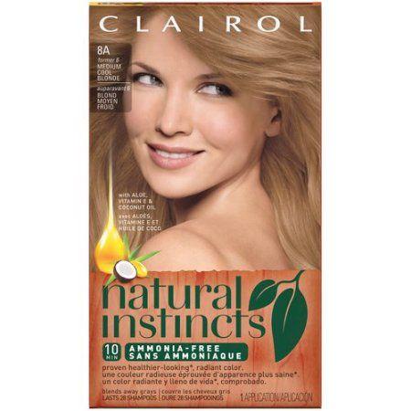 Clairol Natural Instincts 06 Linen Medium Ash Blonde Non Permanent Color, 1.0 KIT   Walmart.com Gallery