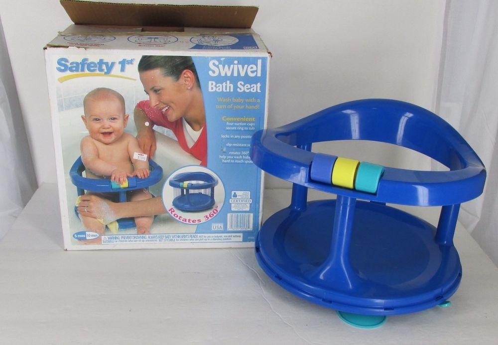 Safety 1st Blue Swivel Bath Tub Ring Seat Baby Infant