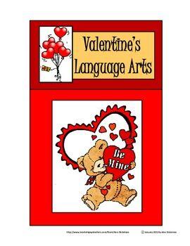 valentine 39 s day worksheets valentine 39 s language arts activity packet bw valentines products. Black Bedroom Furniture Sets. Home Design Ideas