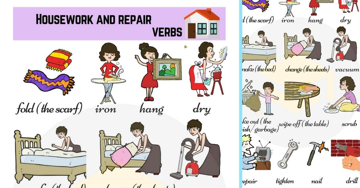 Household Chores List Of Daily Chores With Pictures Idioma