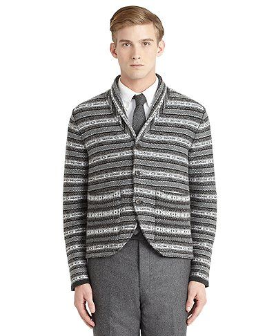 Thom Brown/Brooks Brothers Black Fleece Cashmere Fair Isle Sweater ...