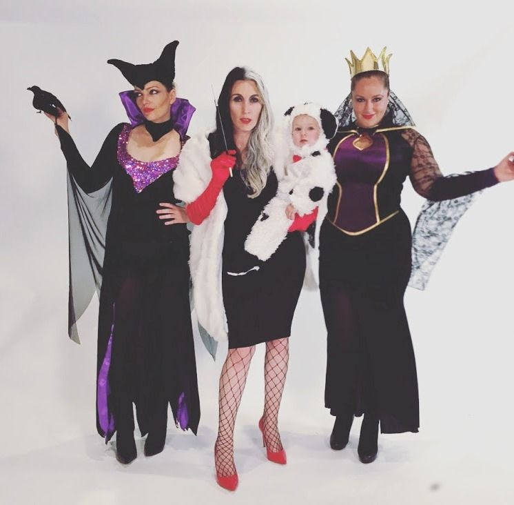 girl group halloween costume ideas disney bad girls maleficent cruella and the evil queen - Girl Group Halloween Costume