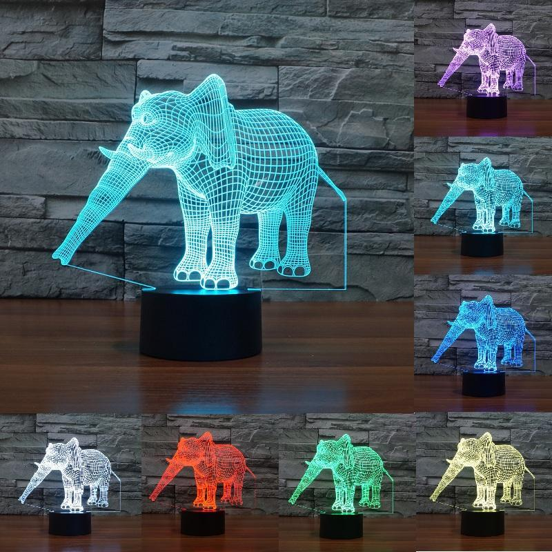 Elephant 3d Illusion Led Lamp Elephant Night Light Elephant Lamp Led Night Lamp