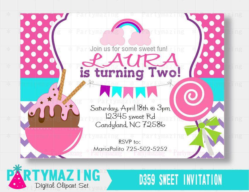 printable candyland invitation sweet candyland party ice cream scoop invitation printable birthday invite custom event invite d359