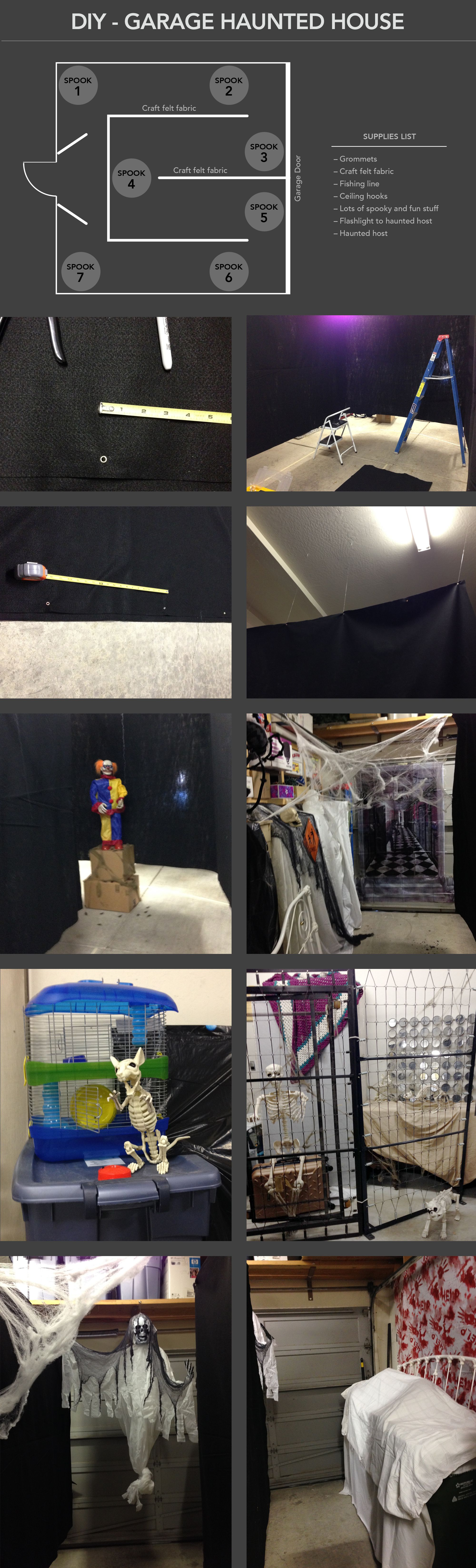 Diy Garage Haunted House For Halloween With Images Halloween