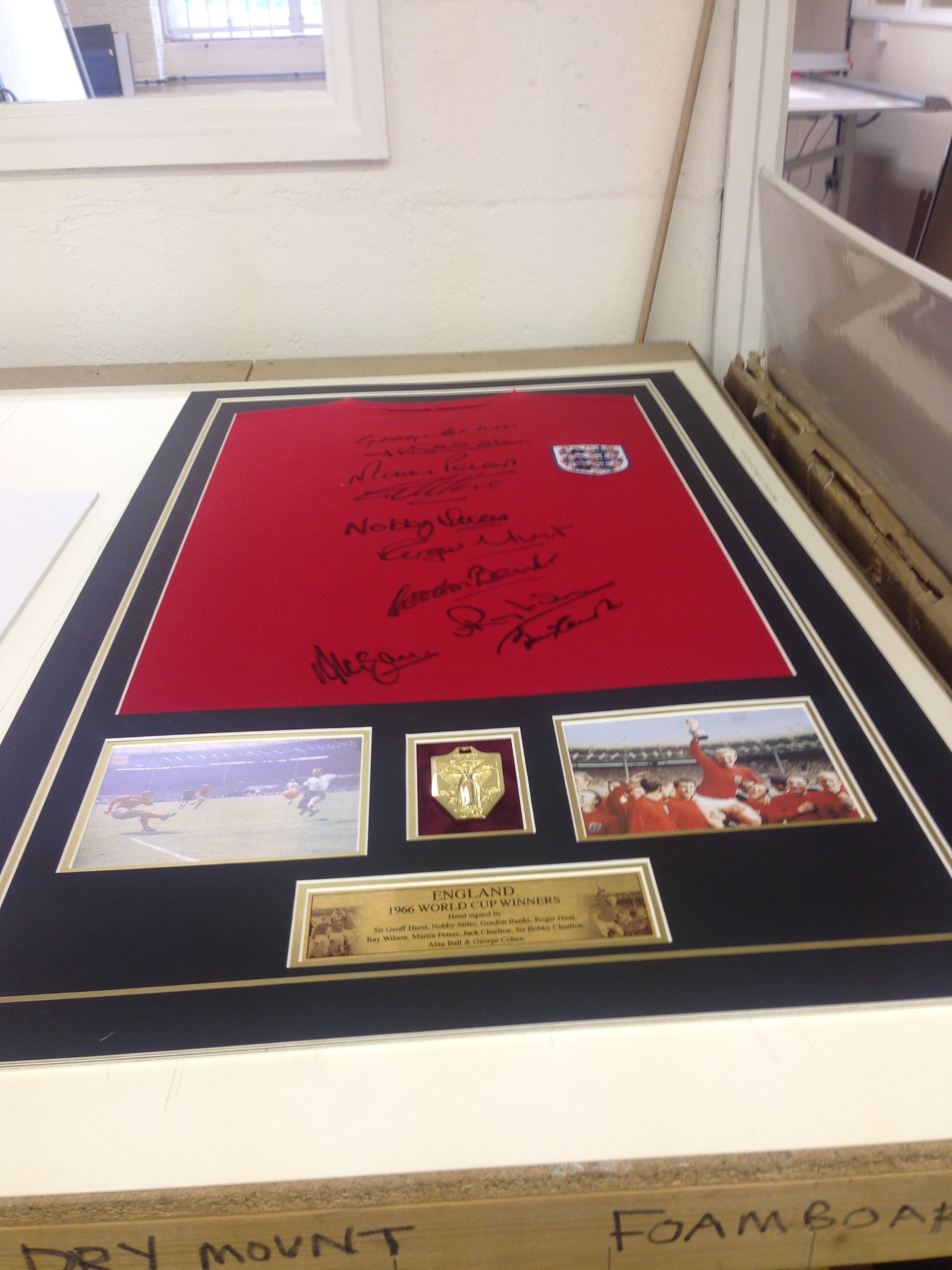 This Lucky Customer Has A 1966 World Cup Winners Signed Top With Medal Jealous Mirrors For Sale Mirror Wall World Cup Winners