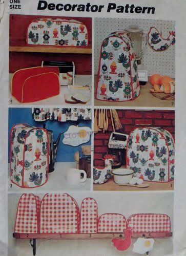 Vintage Simplicity 5495 Kitchen Appliance Covers Pattern Appliance Covers Vintage Housewares Toaster Cover
