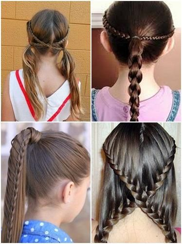 4 Diffrent Types Of Braided Hairstyes For Girls