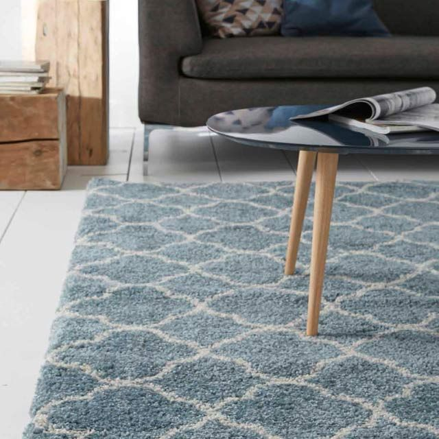tapis cocoon bleu castorama home