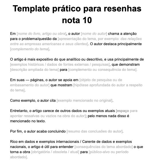 Como Fazer Resenha Crítica Nota 10 [Modelos e Exemplos]