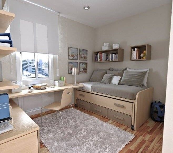 Small Single Bedroom Design Ideas Amazing Bedrooms  Domov  Pinterest  Bedrooms Single Bedroom And Spaces Inspiration Design