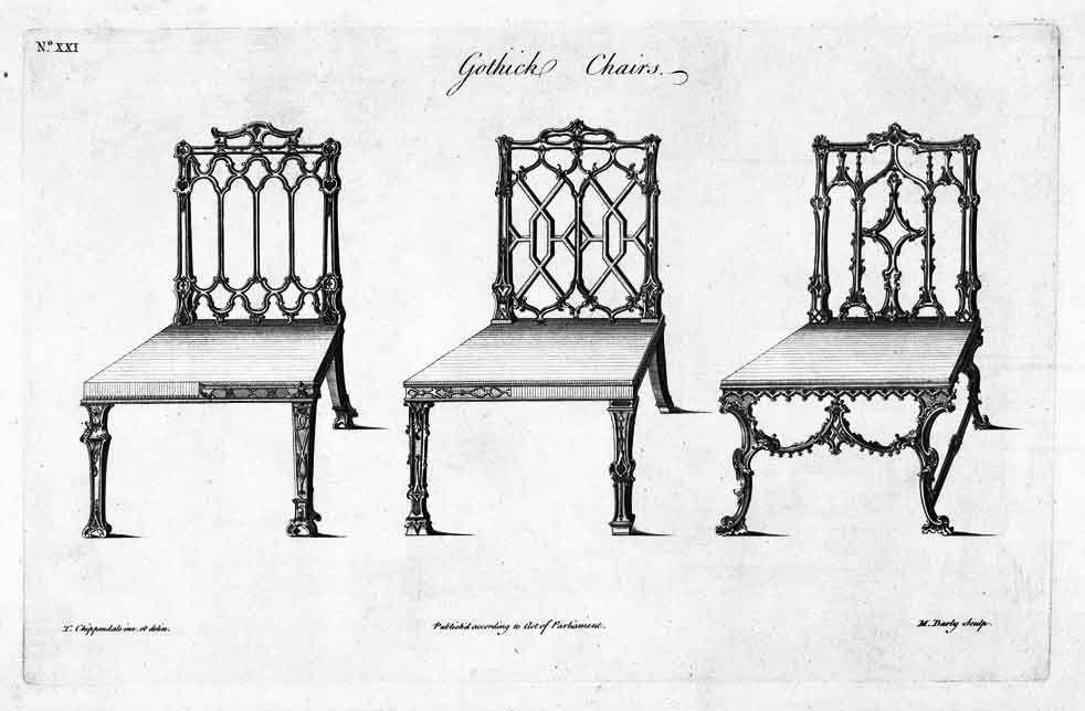 Chippendale Gothic chair   DIBUJOS DE MUEBLES   Pinterest ...