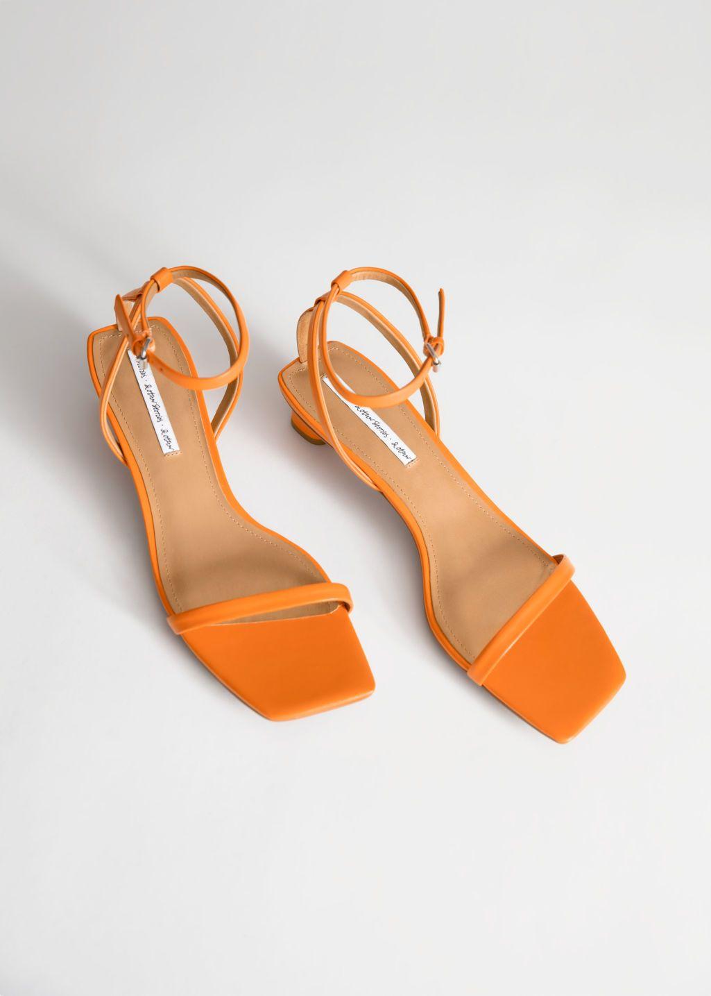 Pdp Kitten Heel Sandals Heel Sandals Outfit Orange Heeled Sandals