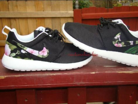 7913a39418c7b ... usa custom pink black tropical floral nike roshe run 6fd0c 15ba7
