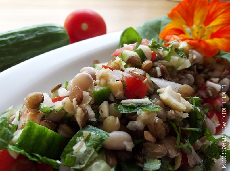 Lentil Salad / Linsensalat / glutenfrei / gluten free / vegan