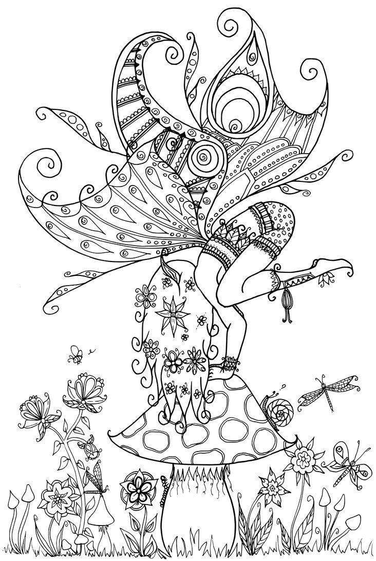 Fairy on a Toadstool by WelshPixie DeviantArt * Fairy Myth