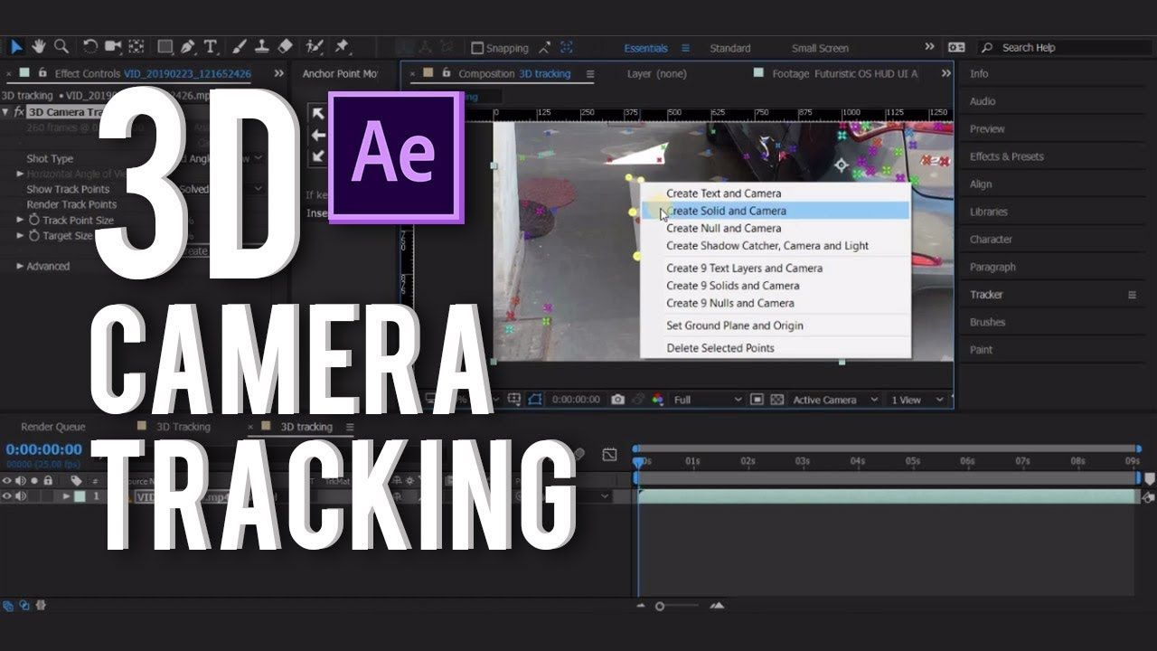 3d Camera Tracking In Addobe After Effect Tutorial In Hindi