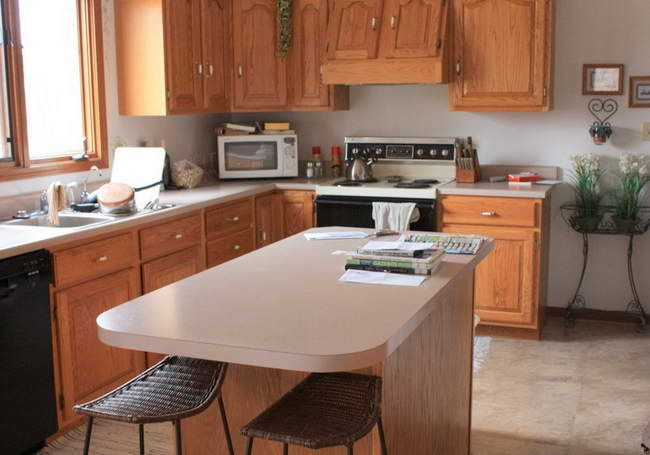 Kitchen Kitchen Paint Colors With Oak Cabinets Well As Curtain
