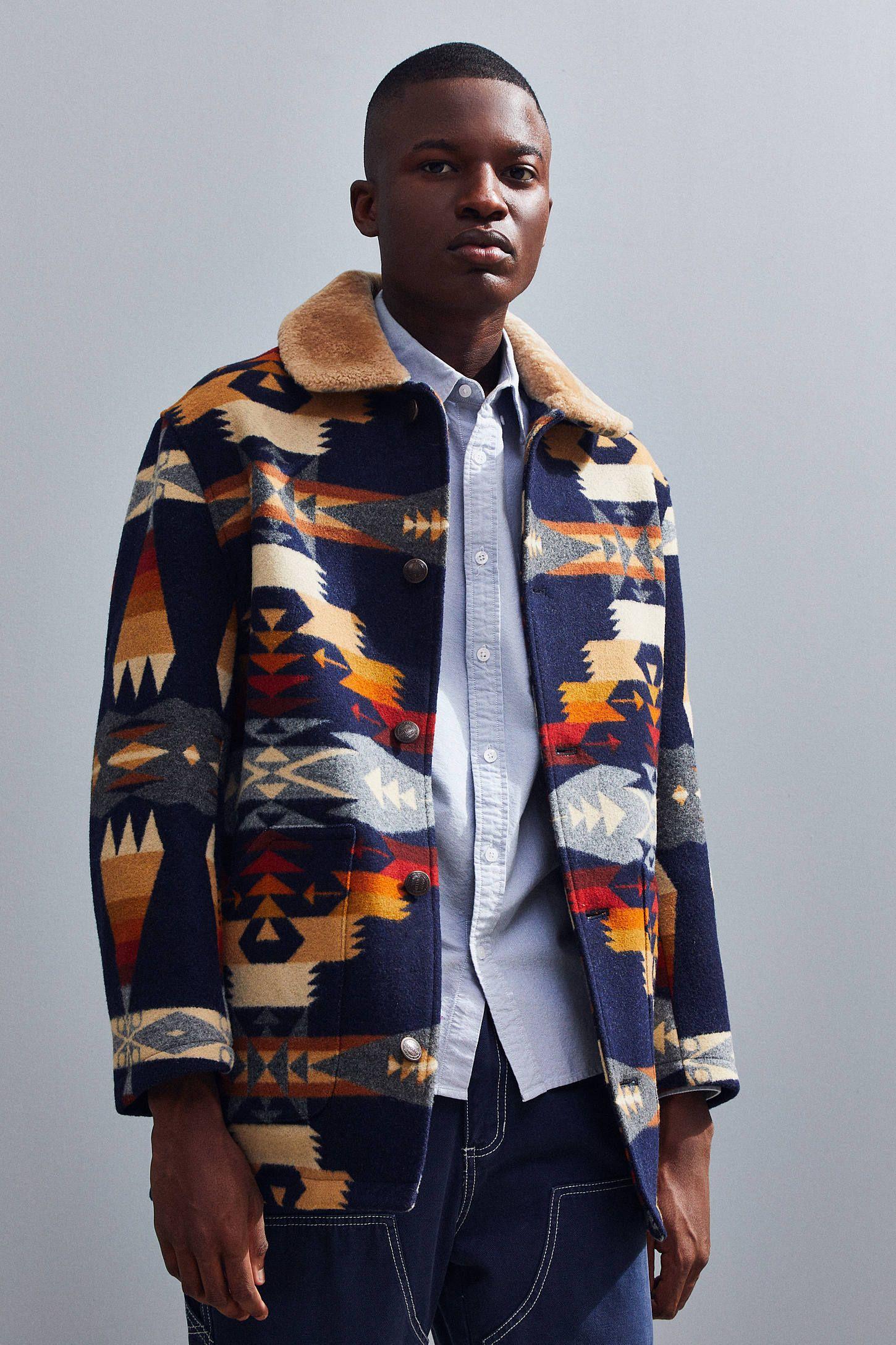 Pendleton Brownsville Shearling Collar Coat Shearling Collar Collared Coat Pendleton [ 2175 x 1450 Pixel ]