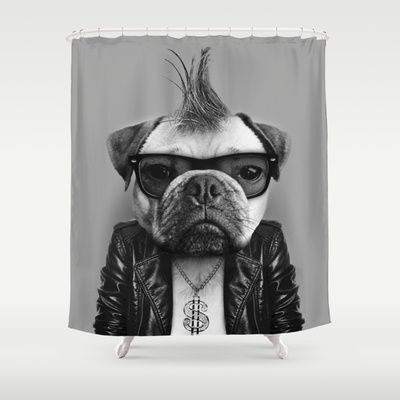 Pug Star Shower Curtain By Ryan Simpson 68 00 With Images