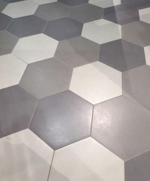 On Trend The Hex Beehive Tile Shape See Why Designed Hexagon Tile Floor Tile Floor Daltile