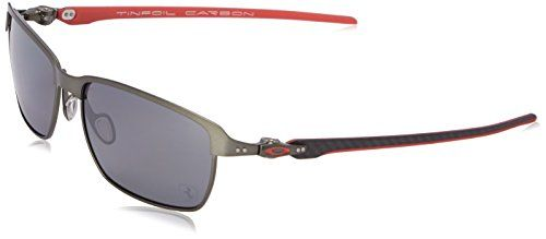 c51fb357b08 Oakley Mens Tinfoil Carbon OO601806 Polarized Iridium Rectangular  Sunglasses Carbon 58 mm     Be sure to check out this awesome product.
