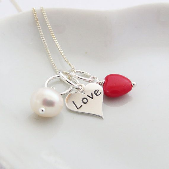 A cluster of love - a perfect gift idea for Valentine's Day xo #heart #necklace #etsy #valentinesday