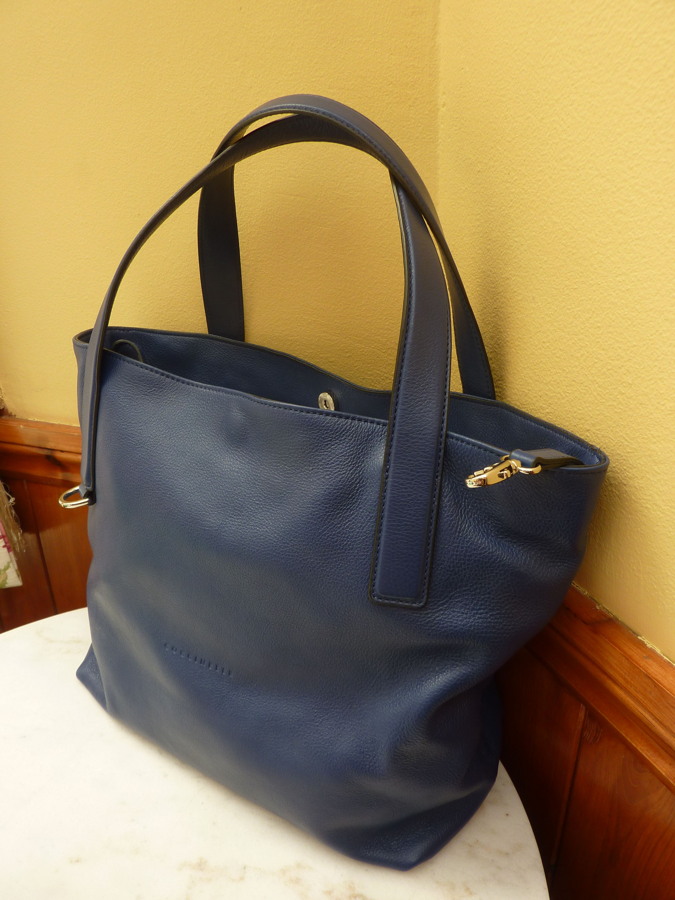 Genuine Coccinelle Soft Leather Dark Blue Bag 89 99 Including Free Shipping To The Uk
