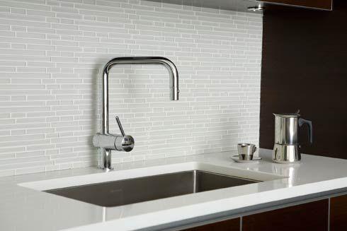 Considering white glass tile for the kitchen backsplash. I like the ...