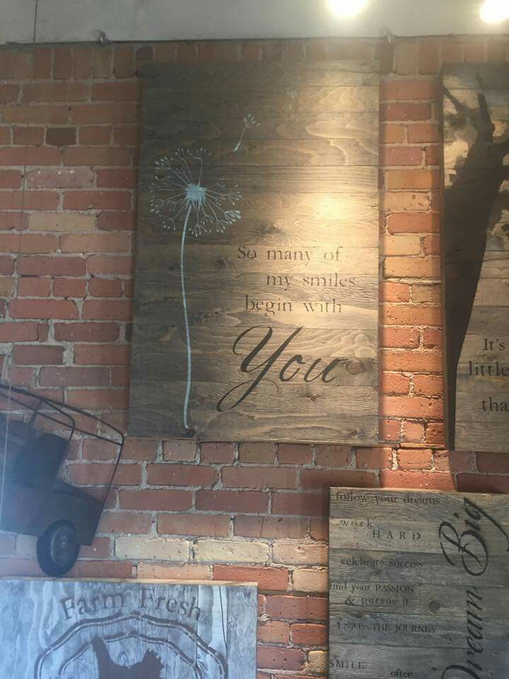 Love this piece and saying for my rustic basement finish