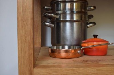 Sheffield Sustainable Kitchens Freestanding Oak shelf storage unit & Sheffield Sustainable Kitchens Freestanding Oak shelf storage unit ...