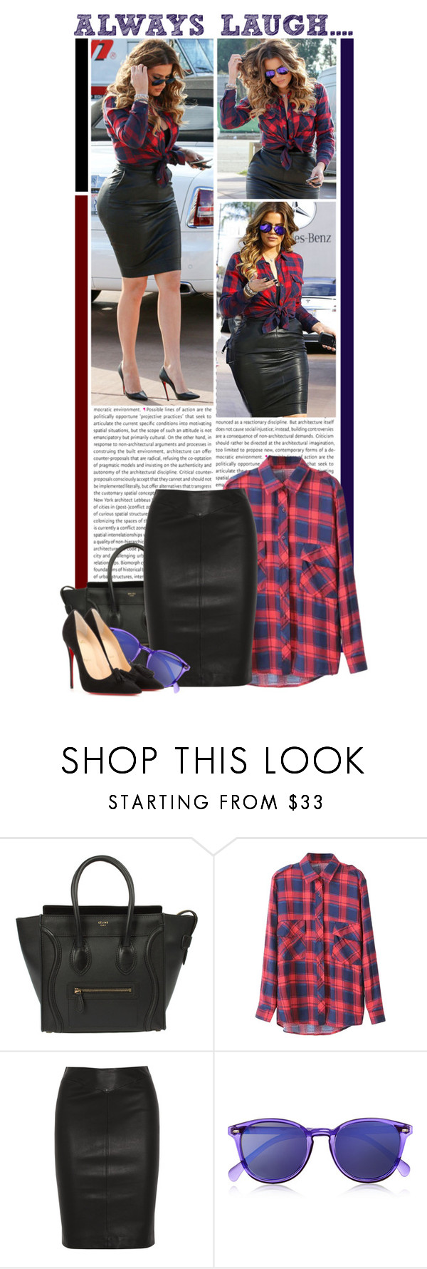 """#1353 (Khloe Kardashian)"" by lauren1993 ❤ liked on Polyvore featuring Oris, Joseph, Le Specs and Christian Louboutin"