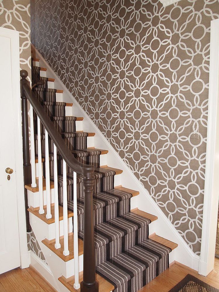 How to Step Up Your Stair Risers With Wallpaper | HGTV